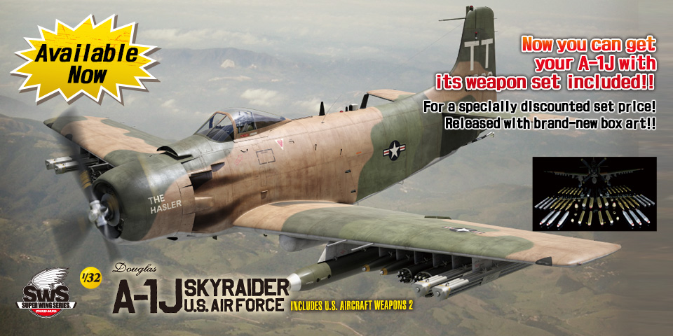 SWS No.07 1/32 A-1J U.S.AIR FORCE INCLUDES U.S. AIRCRAFT WEAPONS
