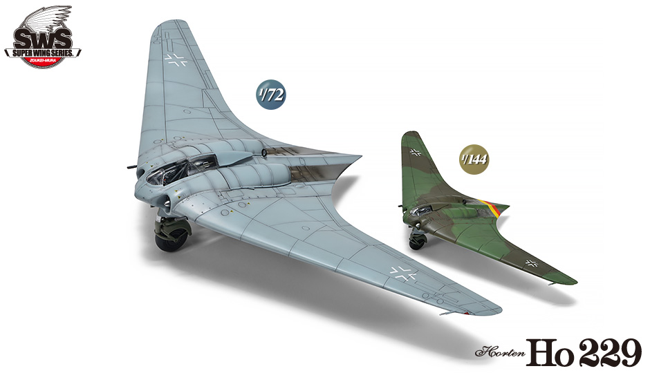 SWS 1/72 scale & 1/144 scale Ho 229