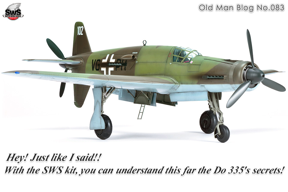 The Old Man Blog No.083 - Hey! Just like I said!! With the SWS kit, you can understand this far the Do 335's secrets!